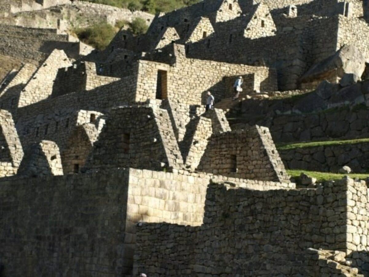 Peru Machu Picchu shadows