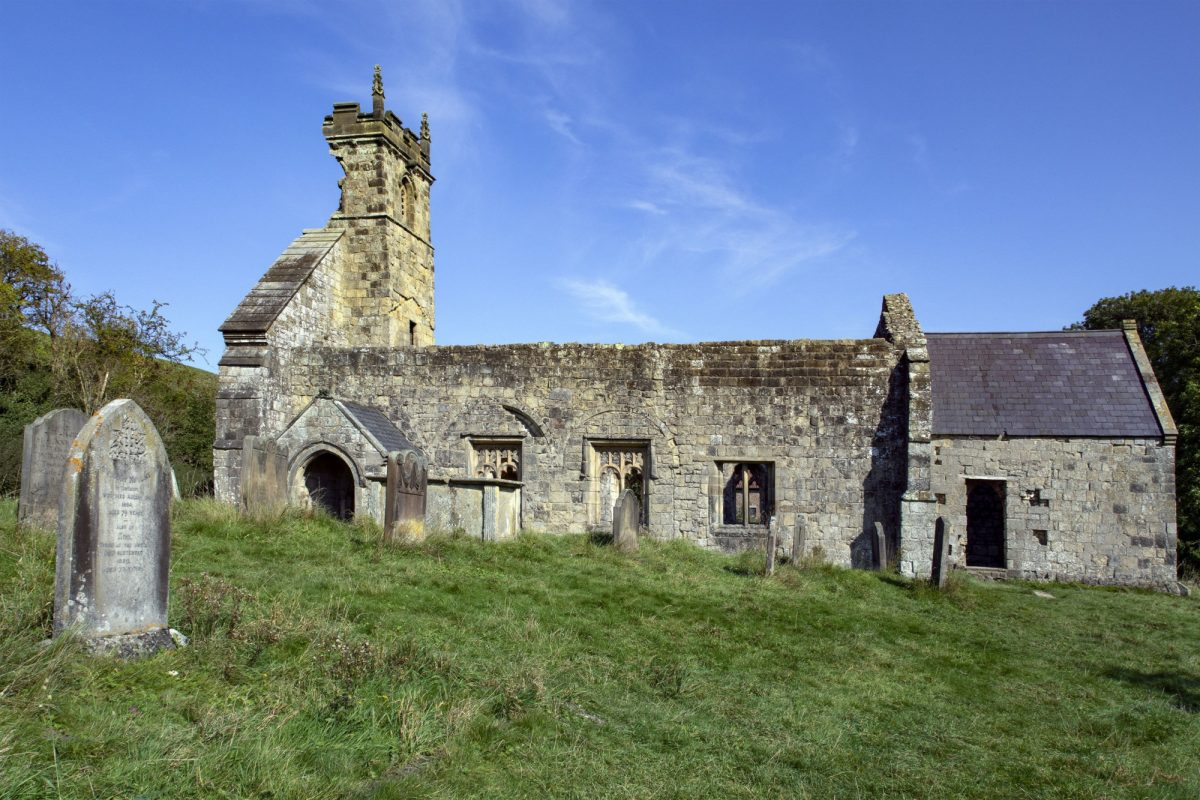 Ruined church at Wharram Percy