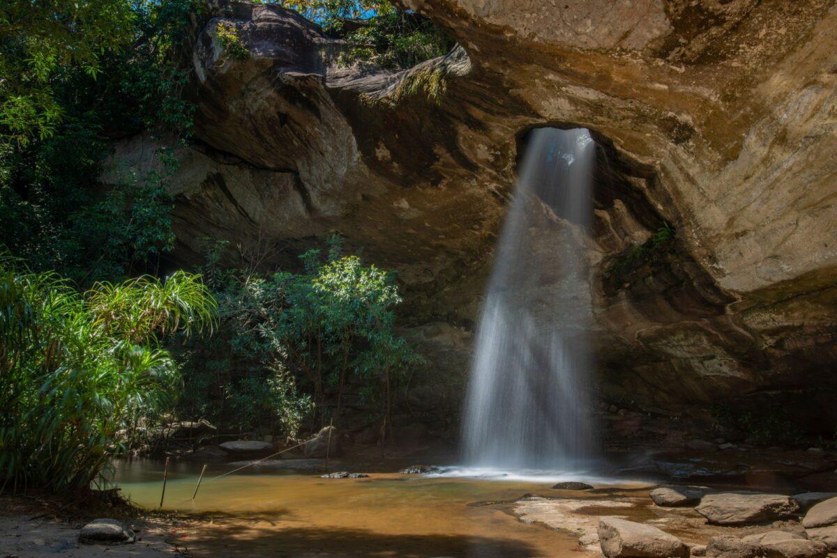 Sang Chan Waterfall Moonlight Waterfall at Pha Taem National Park Ubon Ratchathani province Thailand