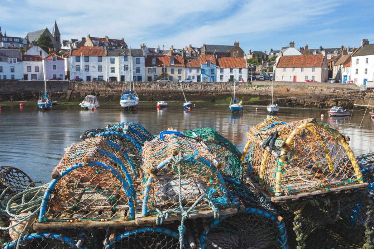 Scotland Fife East Neuk of F Ife fishing village of Pittenweem