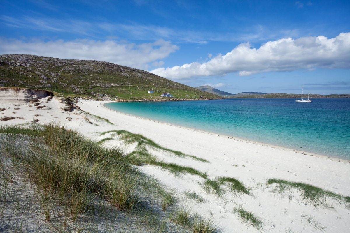 Scotland Hebrides Vatersay White beach