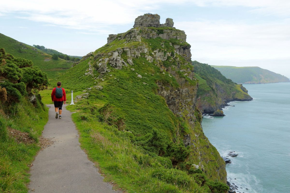 South West Coast Path Valley of the Rocks Exmoor Devon UK