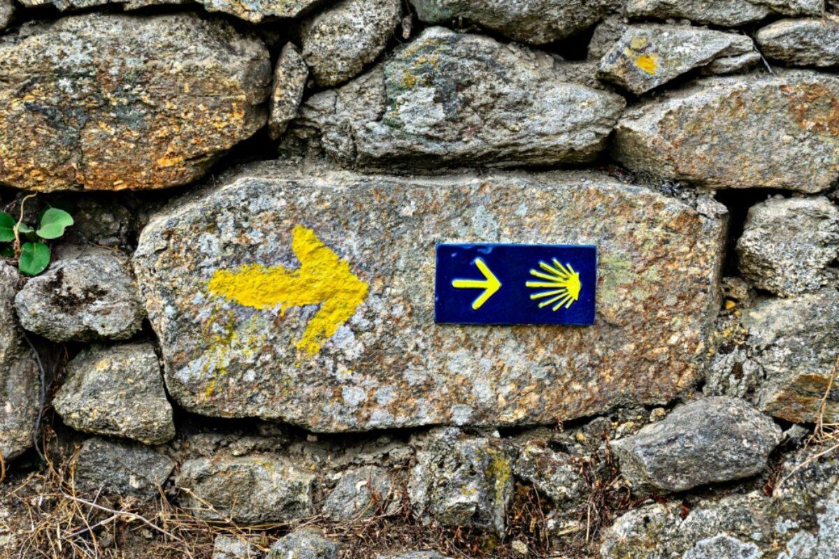 Spain Camino Santiago waymarker