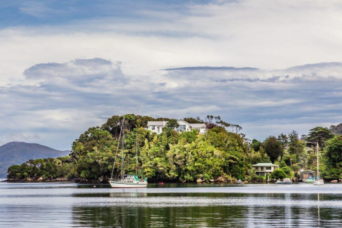 Stewart Island view Oban view across Golden Bay