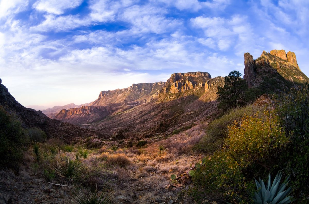 Stunning sunrise in Big Bend National Park Texas usa