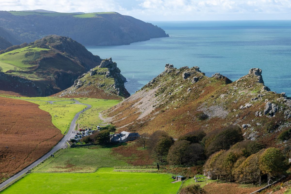 UK Hollerday Hill of the Valley Of The Rocks in Exmoor National Park