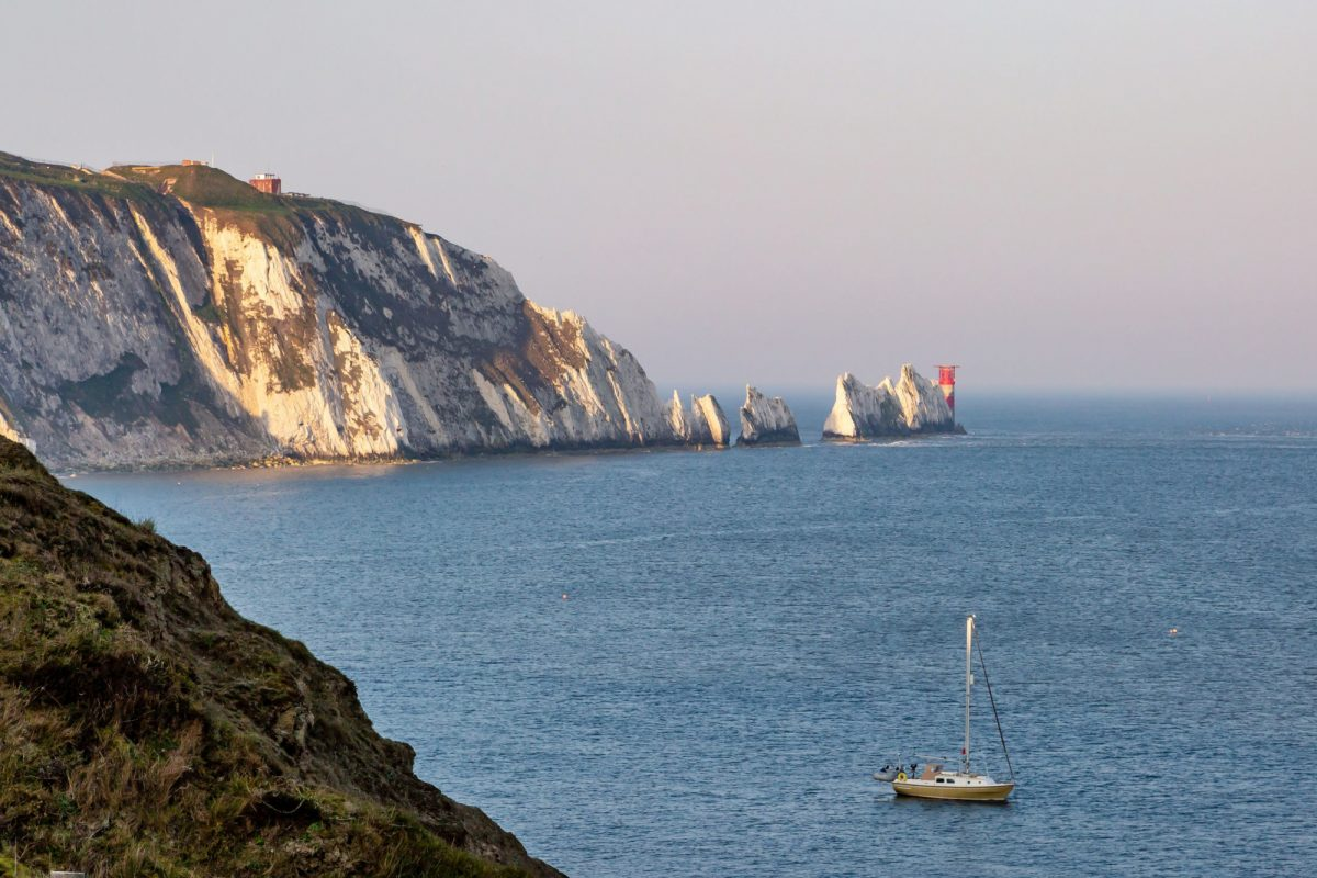 UK Isle of wight alum bay needles