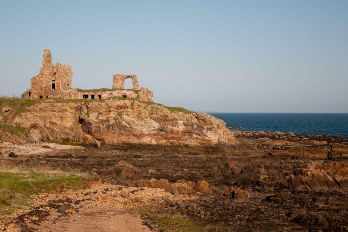UK Scotland ruins Fife Coastal path