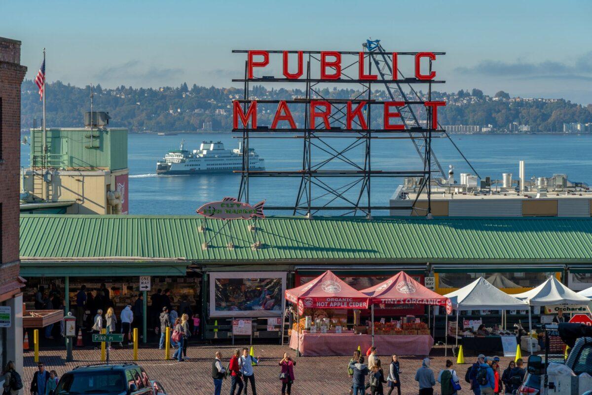 USA Seattle pike place market