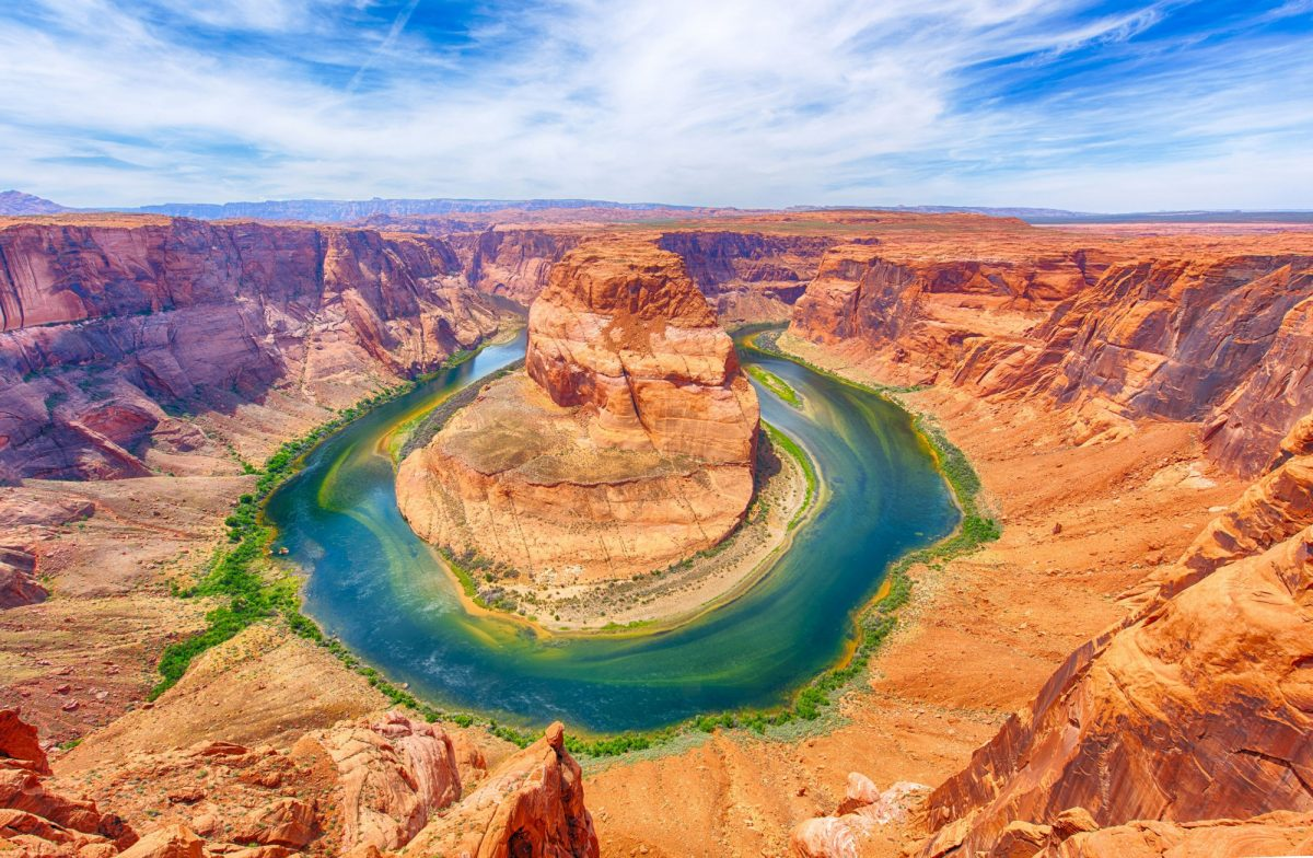 USA Grand Canyon Horseshoe Bend is a famous meander on river Colorado