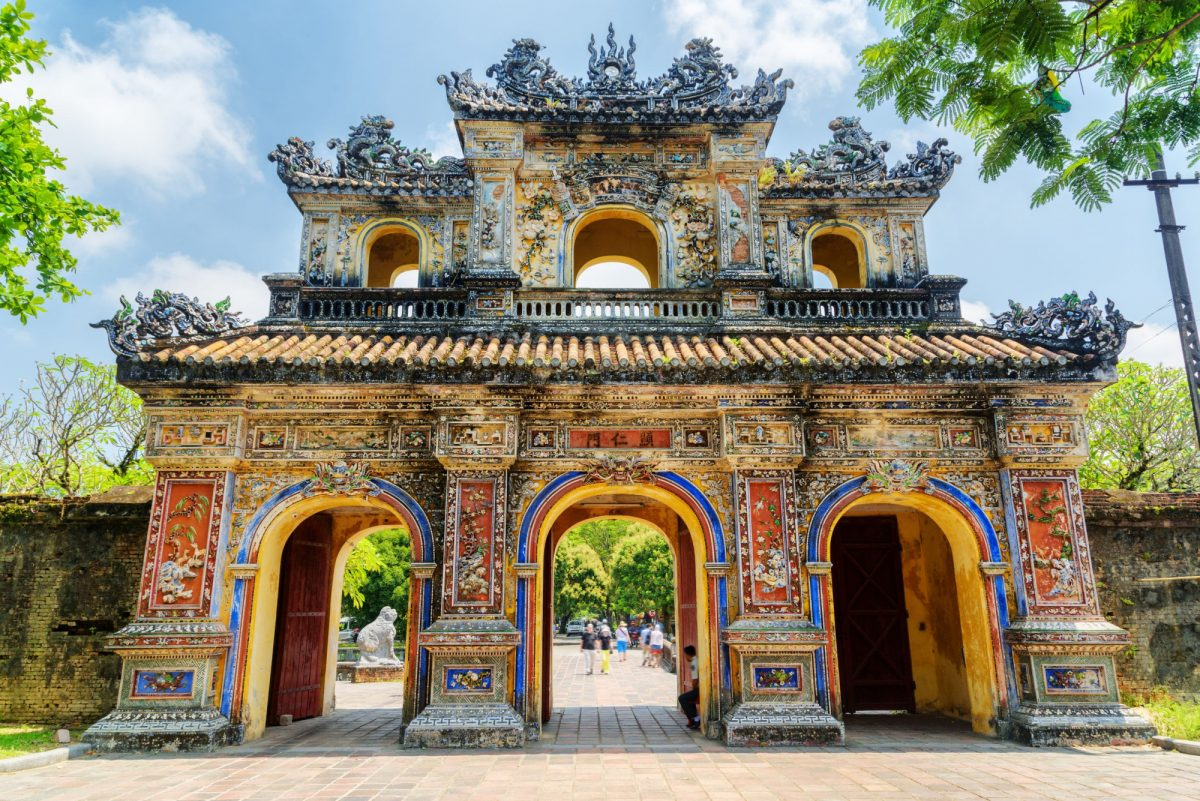Vietnam Hue The East Gate Hien Nhon Gate to the Citadel with the Imperial City