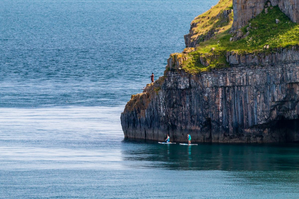 Wales Pembrokeshire paddleboarders