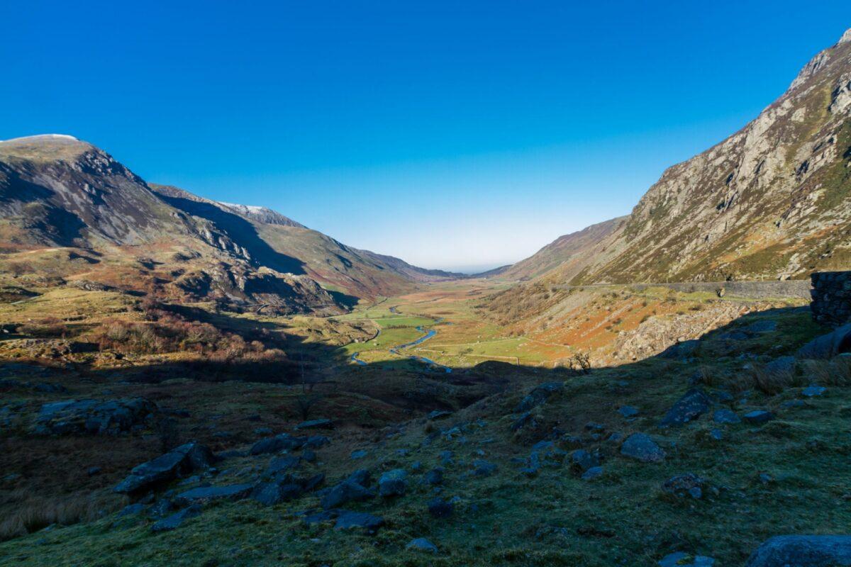 Wales Snowdonia Nant Ffrancon Pass