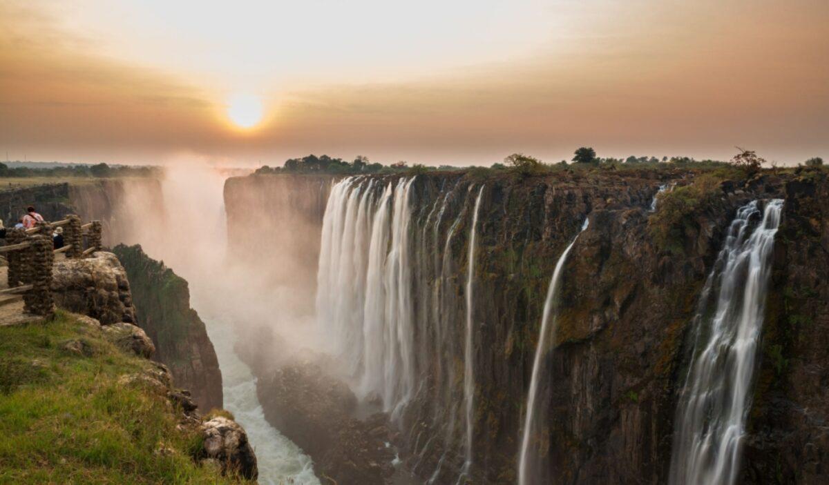 Zambia Victoria Falls sunset