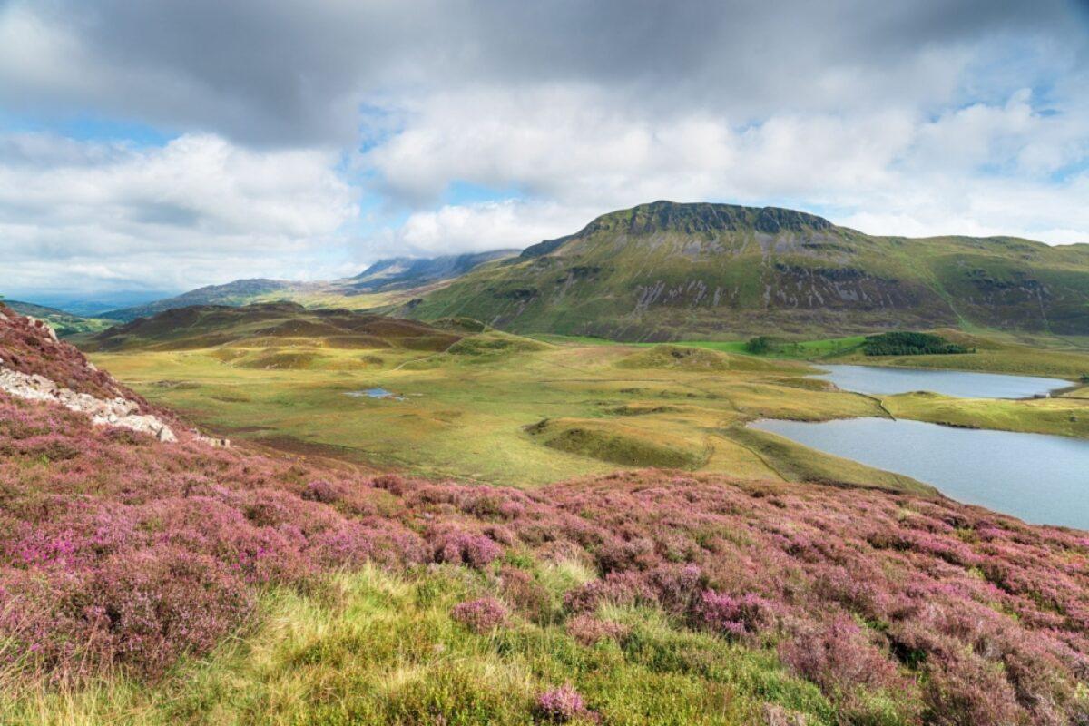 Cambrian way Cadair Idris mountain range in Snowdonia National Park in Wales UK