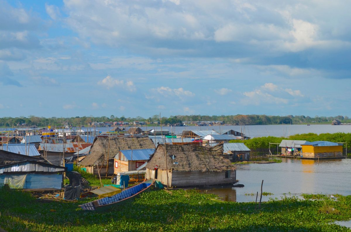 Floating houses in Iquitos Peru