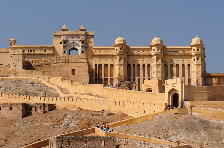 Marvel at the architecture of Jaipur's Amber Fort