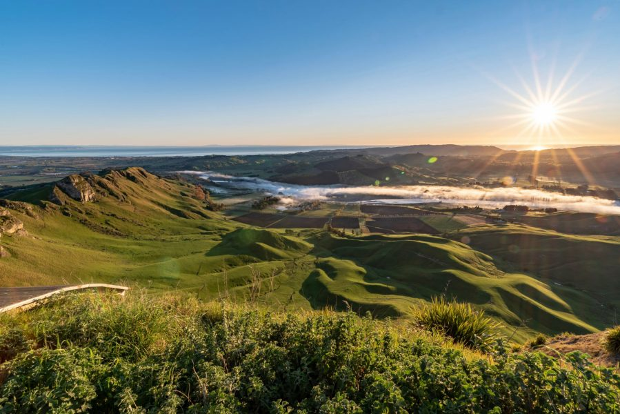Hawkes bay Dawn over Te Mata Peak