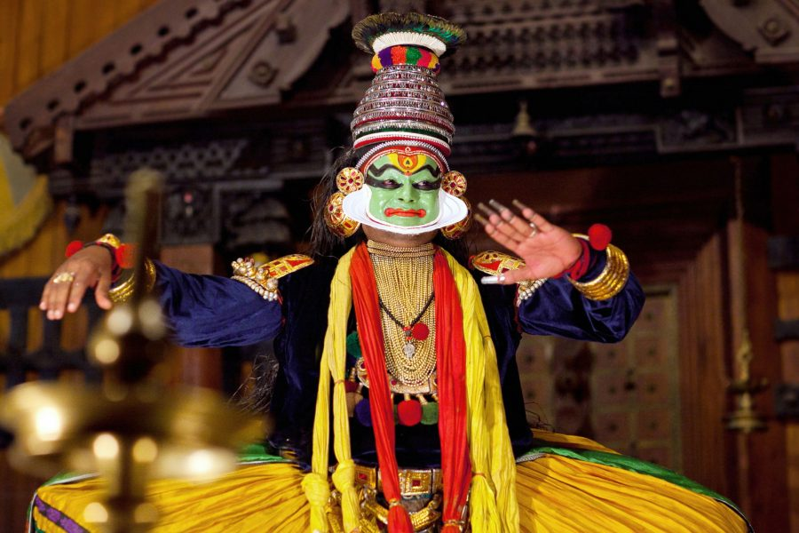 Kerala traditional Indian dance drama Kathakali in Fort Cochin