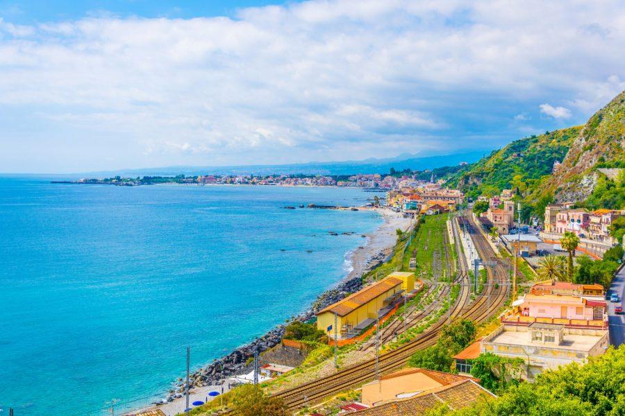 Taormina station Sicily