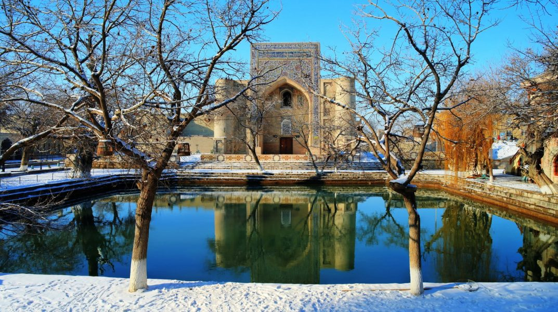 Uzbekistan Bukahara The Lyabi Hauz square