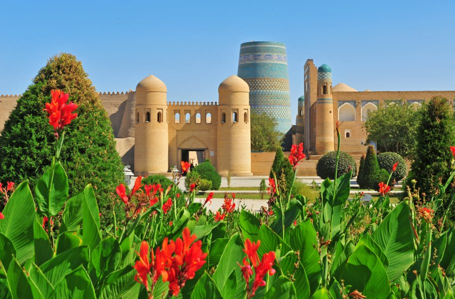 Uzbekistan Khiva medieval gates of old town