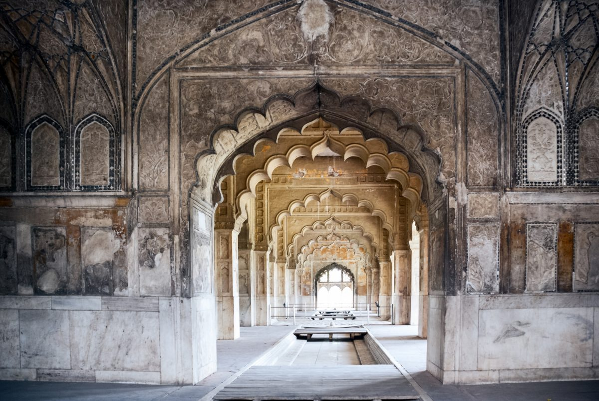 Delhi Interior arches of the Red Fort