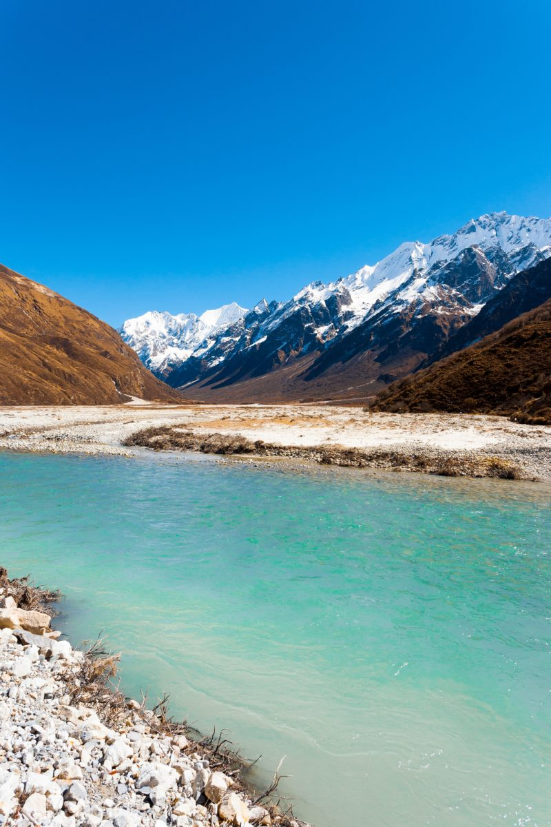 Langtang Valley with Gangchenpo mountai