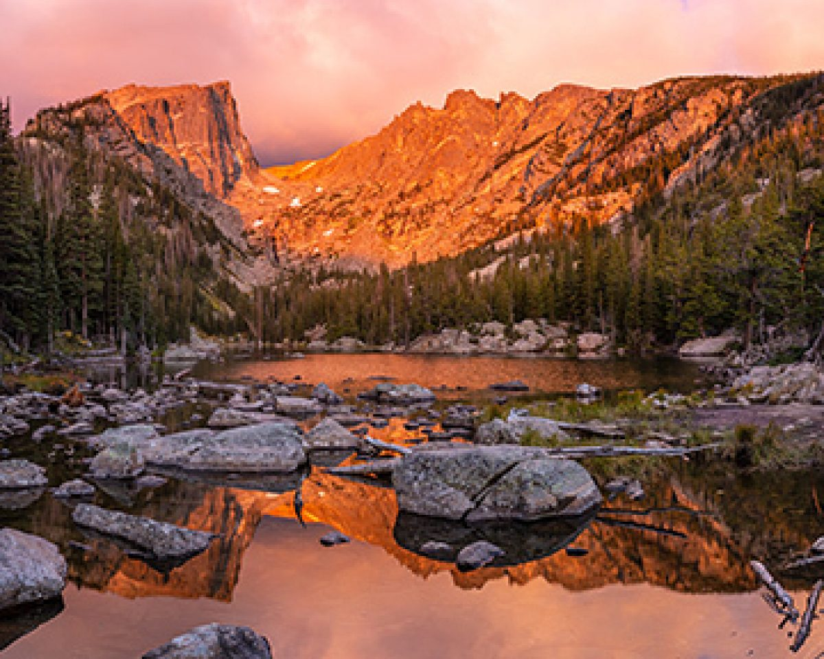 Rock Light Dream Lake Sunrise