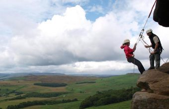 Group Abseiling in the Peak District