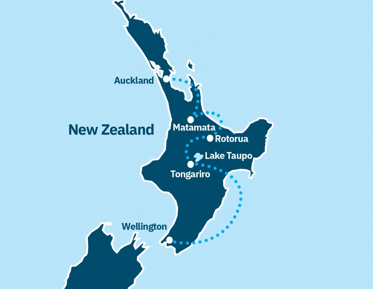 North Island Route Map