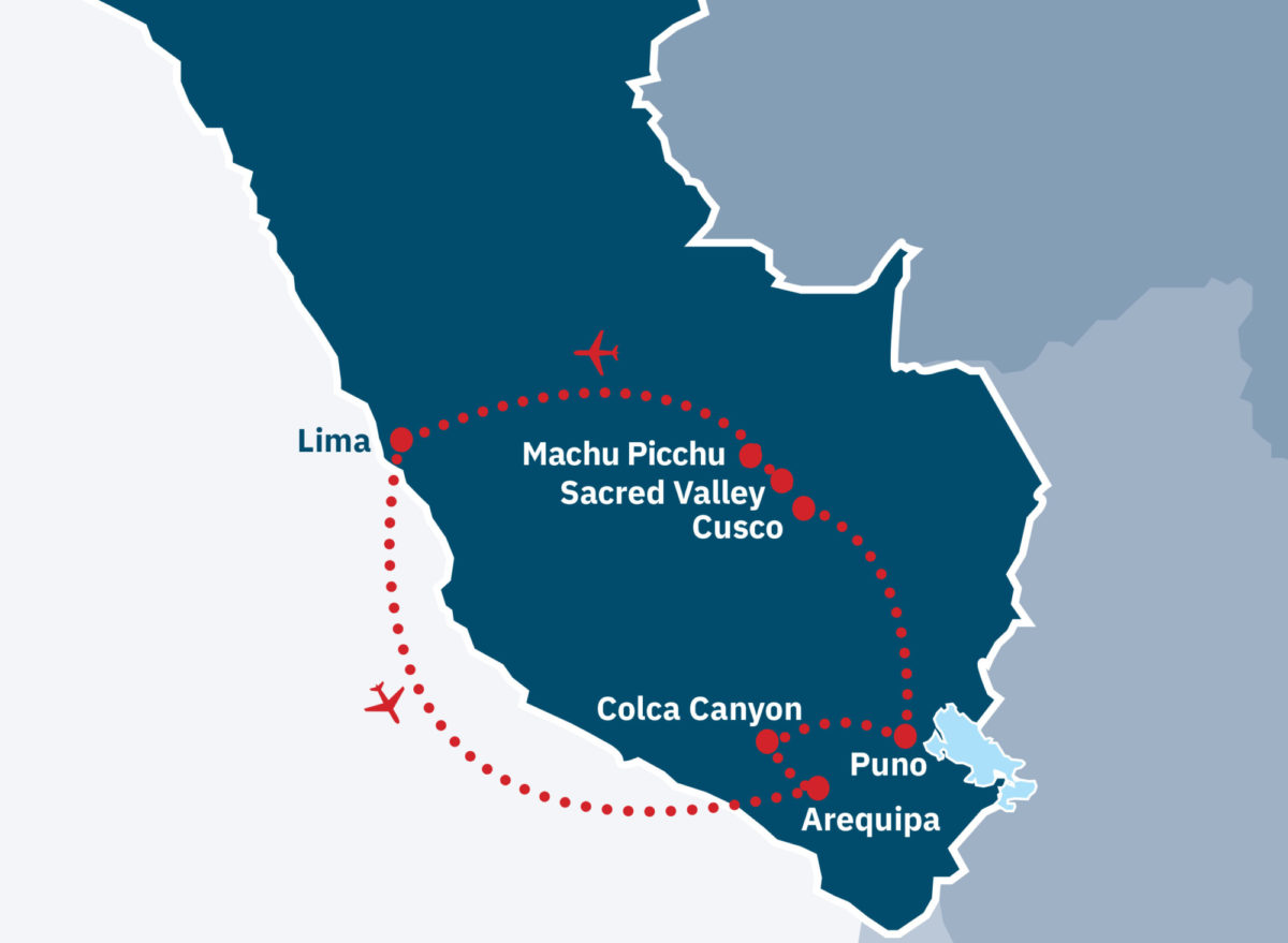 Machu Picchu & Andean Highlights Route Map
