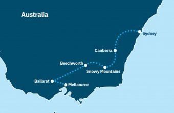 Sydney to Melbourne inland