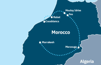 Morocco cities and desert