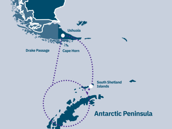 Classic Antarctica Route Map