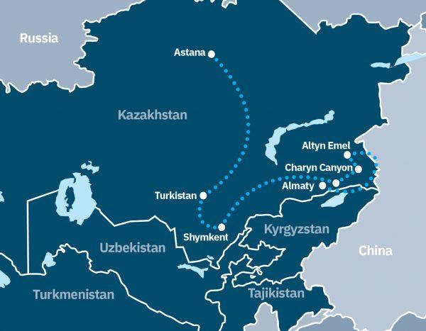Explore Kazakhstan Route Map
