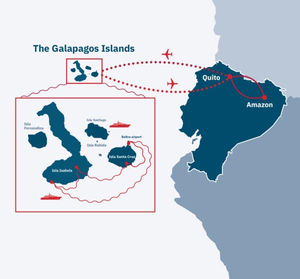 Gems of Ecuador Route Map