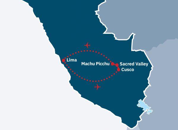 Essential Peru & Machu Picchu Route Map