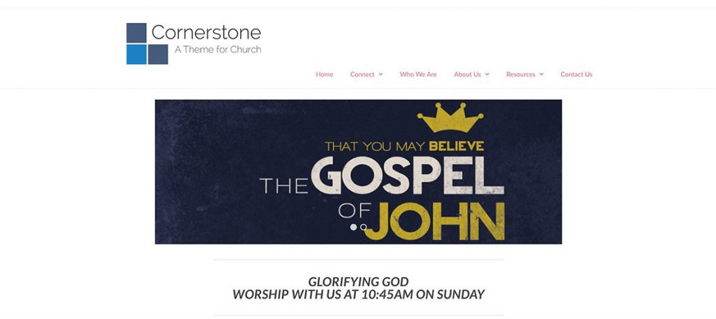 Cornerstone Theme for Church