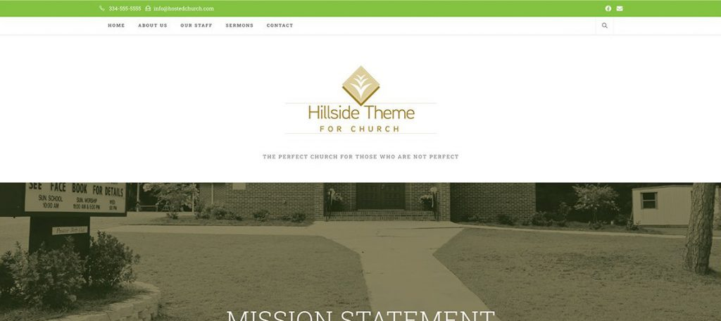 Hillside Theme for Church
