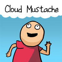 Cloud Mustache cocaine mustache comic