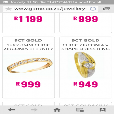 Responded Advertising 9ct Jewellery But Where Is It Game