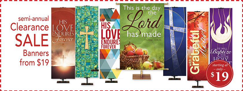 Church Banners Overstock Sale