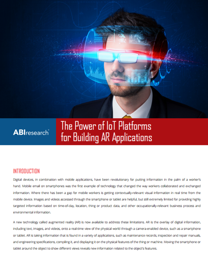 ABI Research: The Power of IoT Platforms for Building AR Applications