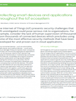 Protecting Smart Devices and Applications Throughout the IoT Ecosystem