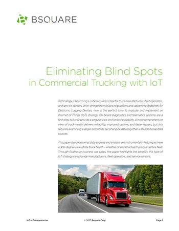 Eliminating Blind Spots in Commercial Trucking with IoT