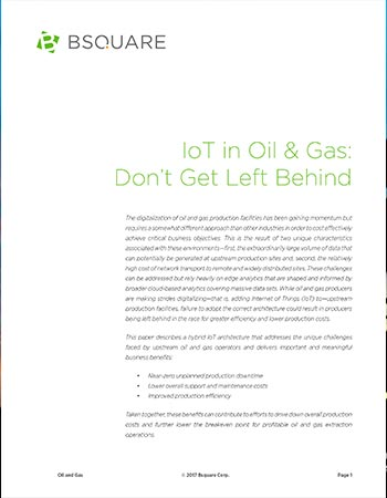 IoT in Oil and Gas: Don't Get Left Behind