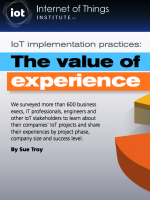IoT implementation practices report: Learning from the success stories