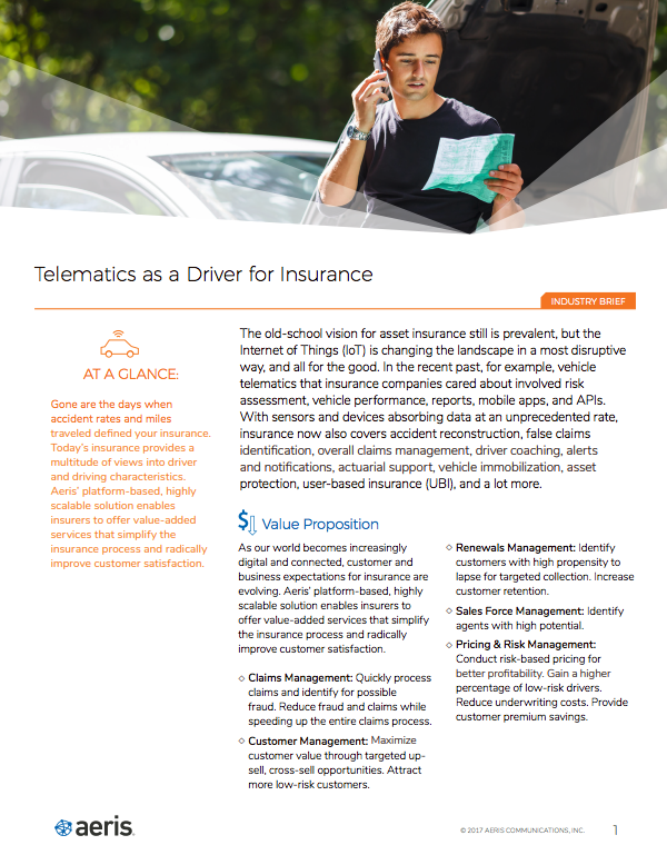 Telematics as a Driver for Insurance