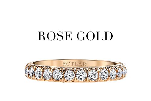 Metal rose gold
